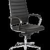 Design-Bureaustoel-1202-chroom-zwart