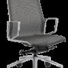 Bureaustoel-chroom-net-rug