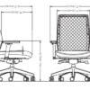 Afmetingen bureaustoel BN-200
